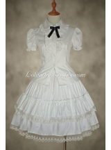 White Lace Cake Skirt Lolita Dress Petticoat