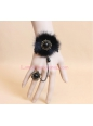 Gothic Black Plush Luxury Lolita Bracelet