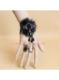 Dance Luxury Black Fox Fur Lace Lolita Bracelet