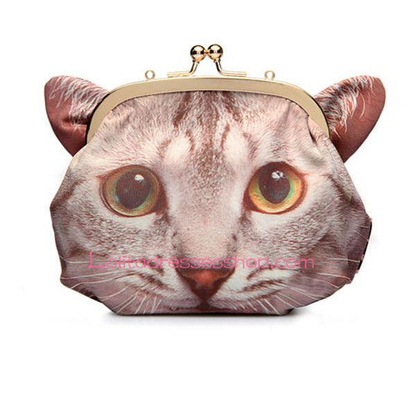 Cute Cat Printed Zipper Crossbody Lolita Bag