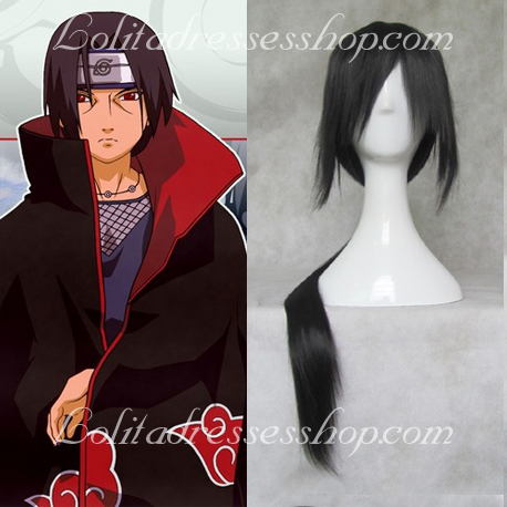 Naruto Uchiha Itachi Black long Straight Cosplay Wig
