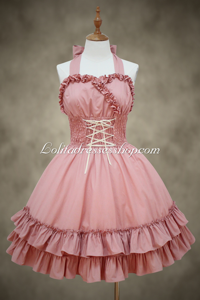 Cheap Beautiful Ladies Pink Straps Sweet Lolita Dress Sale At ...