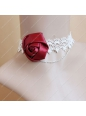 White Lace with Red Rose Lolita Necklace
