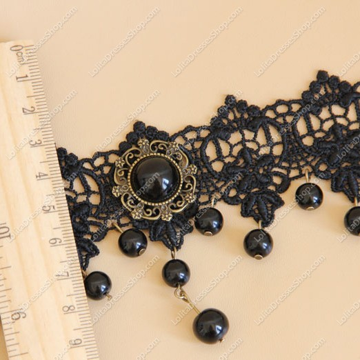Fashion Party Short Black Lolita Necklace