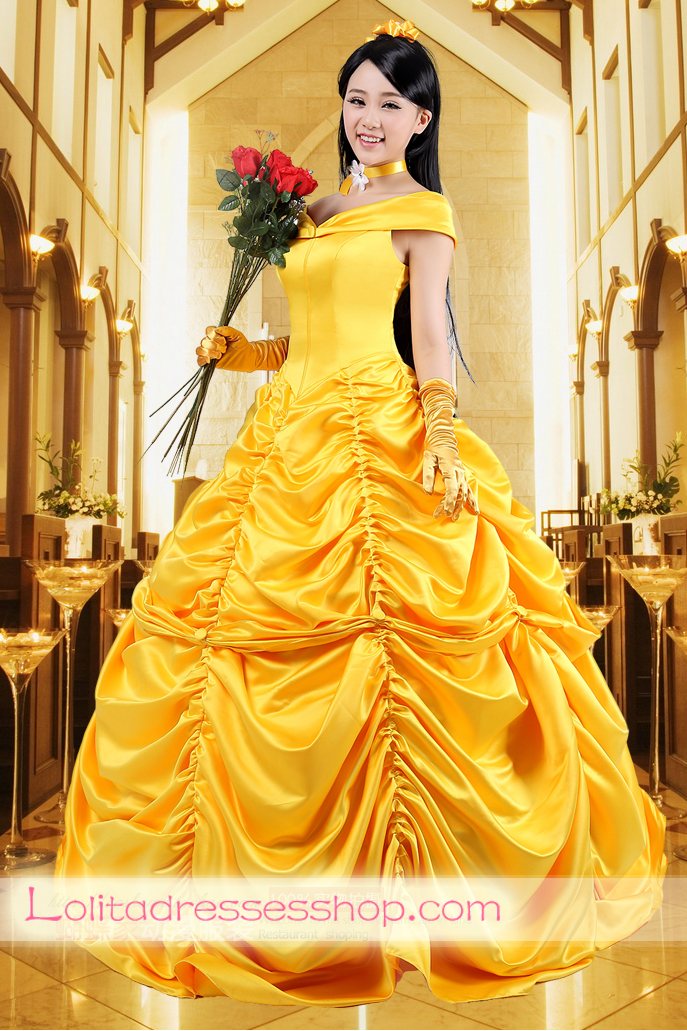 Disney Princess Beauty and the Beast Belle Cosplay Lolita Dress