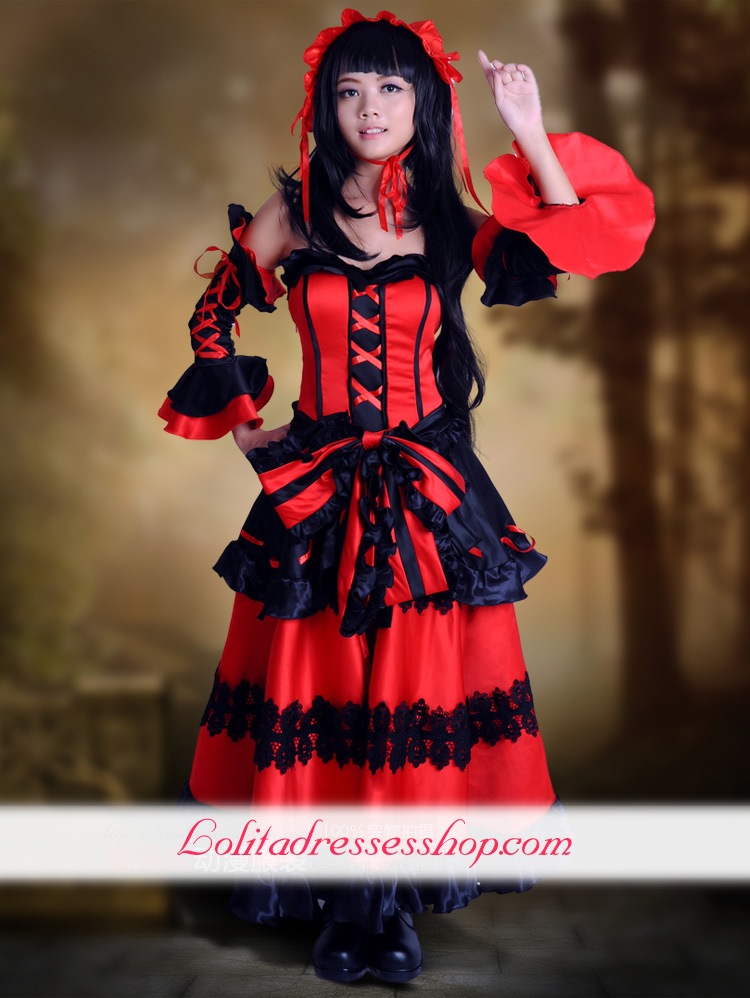 Tokisaki Kurumi Nightmare Cosplay Lolita Dress