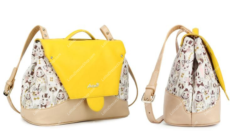 Yellow Sweet Mixed Colors Clamshell Fashion Lolita Bags