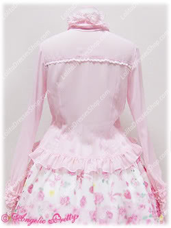 Sweet Princess Pink Stand Collar Long Sleeve With Bowknot Lolita Blouse