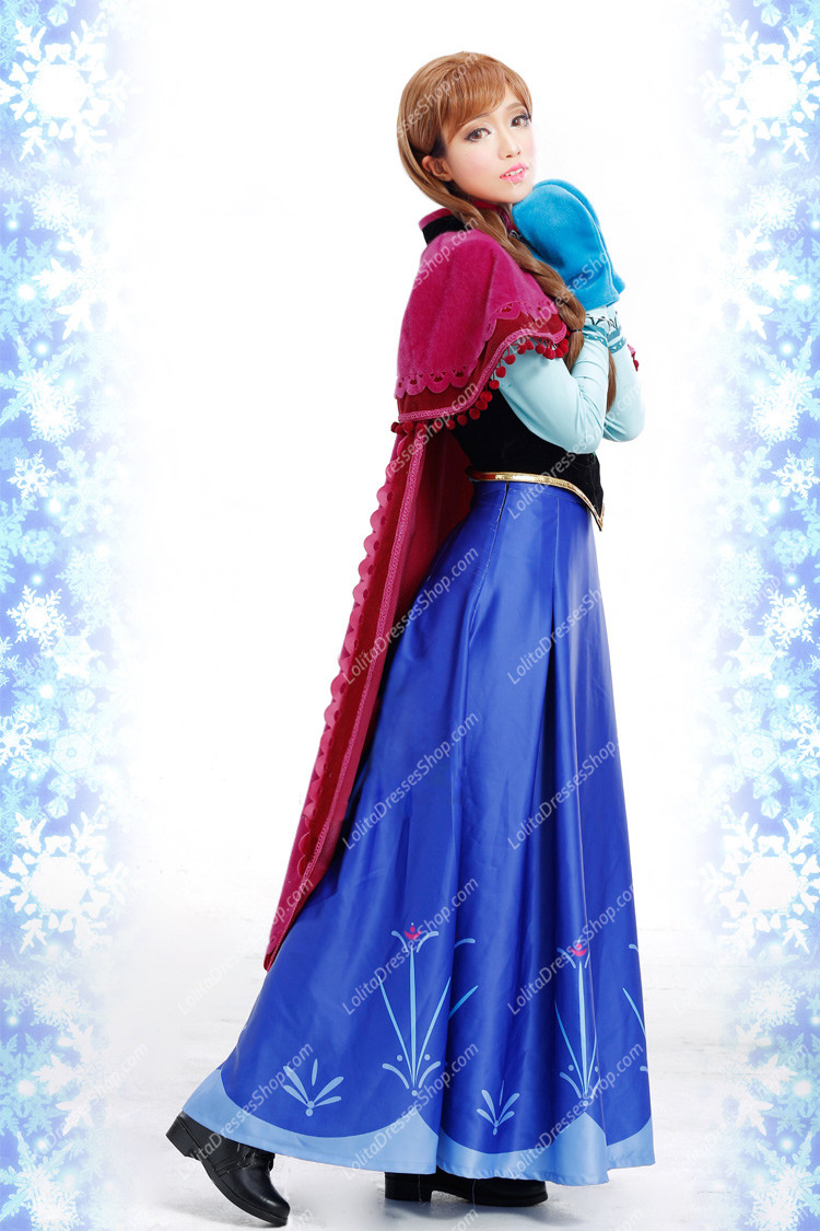 Frozen (Disney Movie) Cosplay Anna Costume Outfit