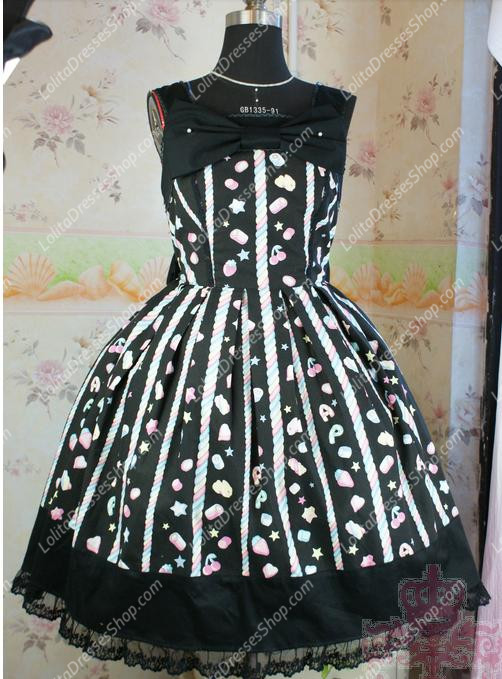 Fairy Tale Black Cotton Princess Sweet Lolita Dress
