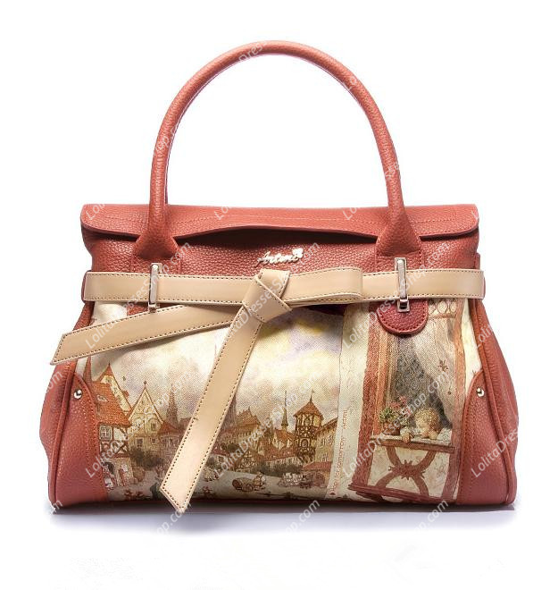 Latest Sweet Amber Red Painting Lolita Bag