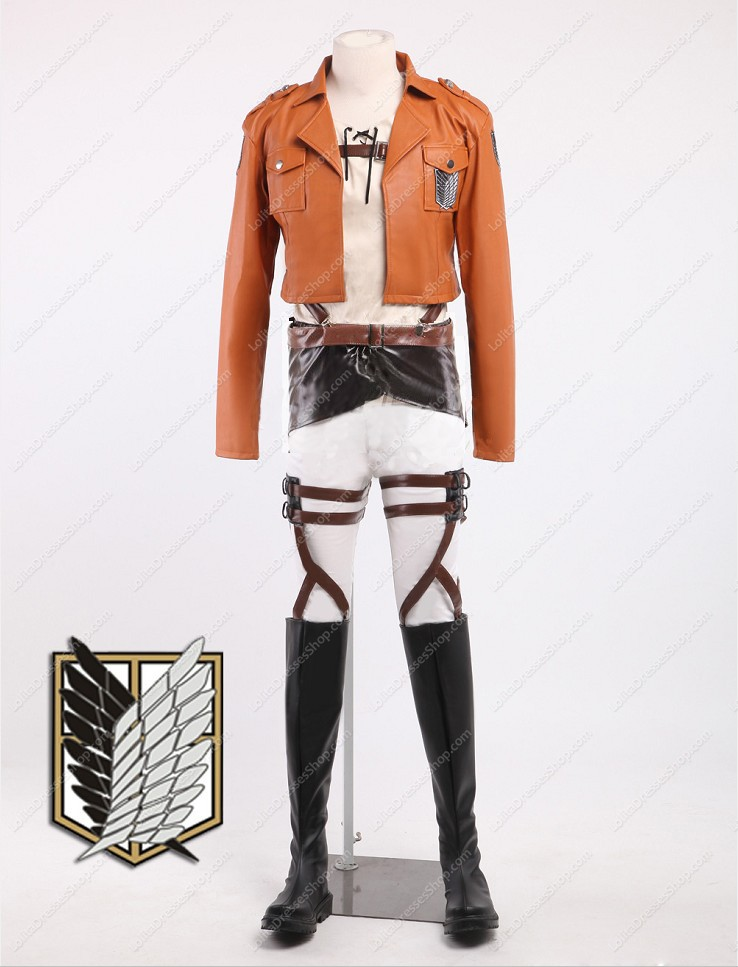 "Attack on Titan Shingeki no Kyojin ""Wings of Freedom\"" Scouting Legion Cosplay Complete set (PU Leather)"