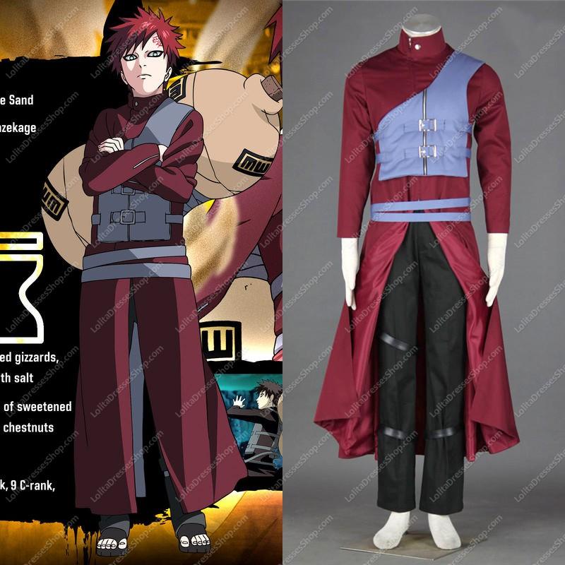 Cheap Naruto Shippuden Gaara Cosplay Costume Sale At Lolita
