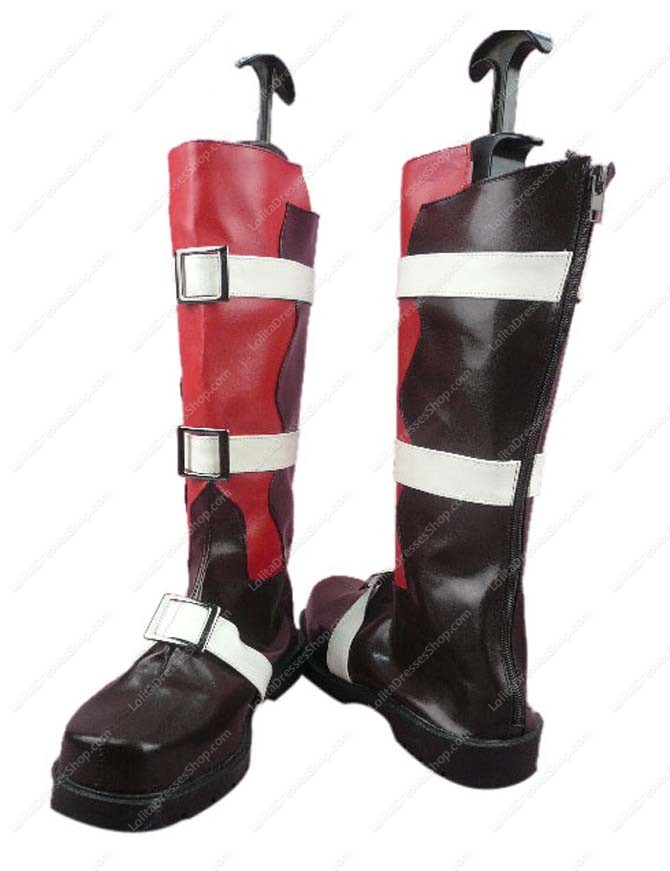 Final Fantasy Lightning Imitated Leather Rubber Cosplay Shoes