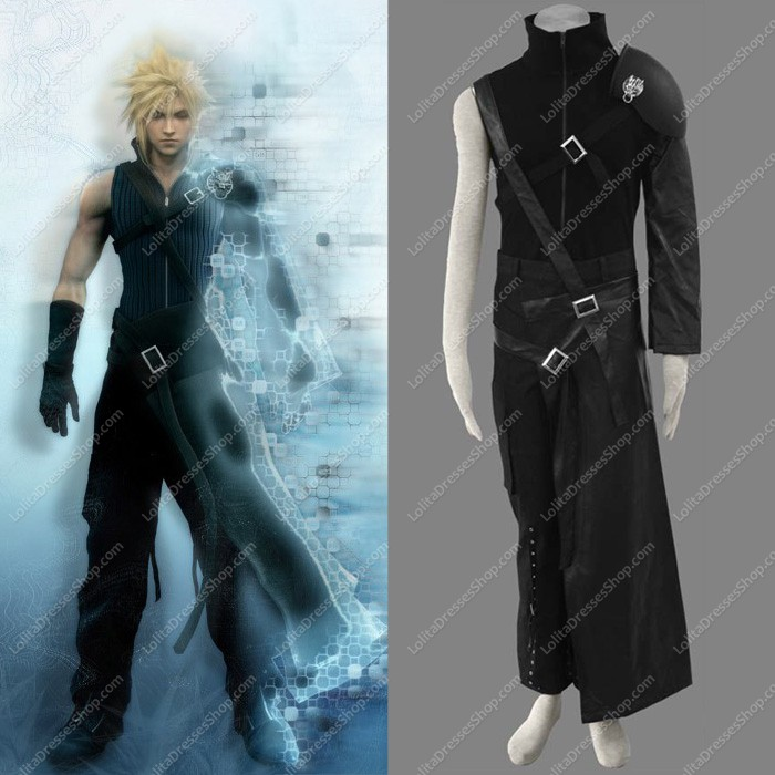 Final Fantasy VII Cloud Strife 4-piece Cosplay Costumes