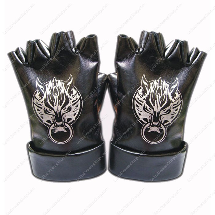 Final Fantasy Vii Wolf Head Leather Gloves Cosplay Costumes Component Leather Gloves X2