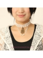 Lolita Bridal Pearl Noble White Lace Necklace