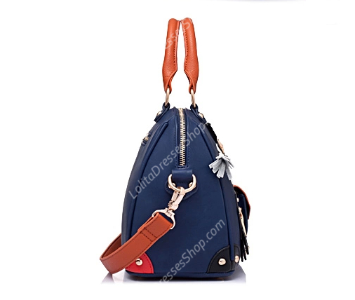 Vintage Navy Blue Cute Horse Lolita Big Bags