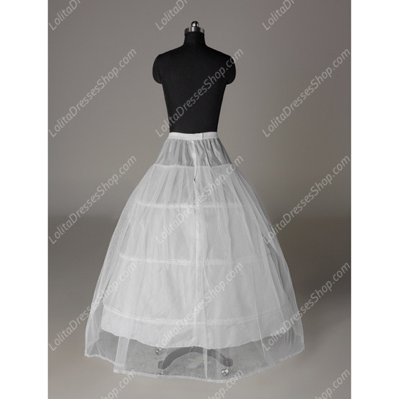 White Yarn Long Floor Length Lolita Dress Petticoat