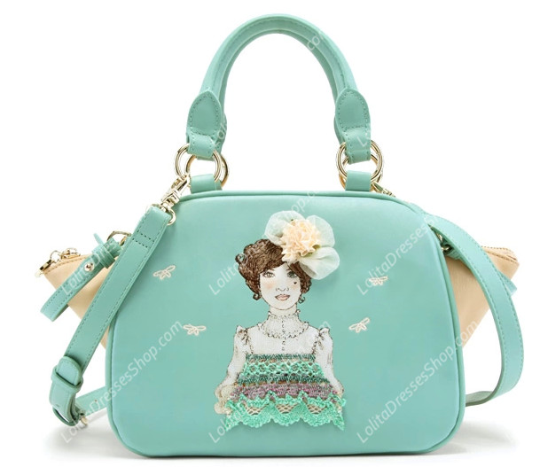 Lovely Lady Mint Green Embroidery Lolita Bag