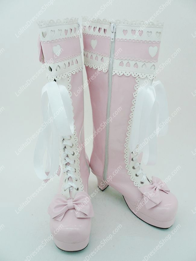 Sweet Princess Bowknot and Lace Lolita Boots