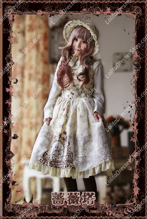 Sweet Cotten Sleepy Beauty Knot Sk Infanta Lolita Dress