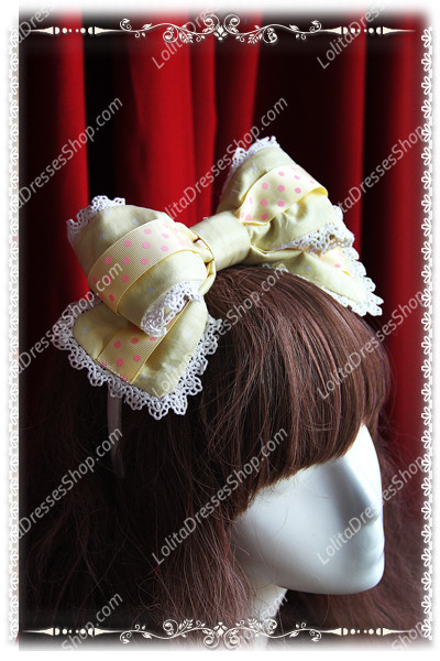 Sweet Cotten Cream House sweety Knot Sk Infanta Lolita Barrette
