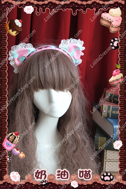 Sweet Cotten Cream Cat sweety KC Infanta Headband