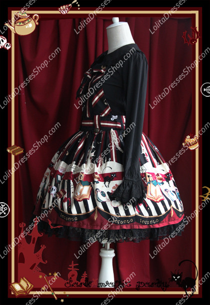 Sweet Cotten Dark Magic Party Infanta Lolita Overalls Dress