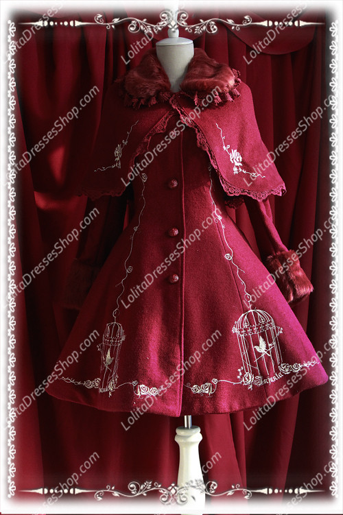 HOT NEW Infanta Lolita Cashmere Cape Coat