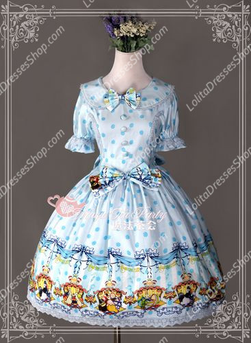 Cotten Sweet Magic Tea Party The rabbits of easter Knot Lolita Dress