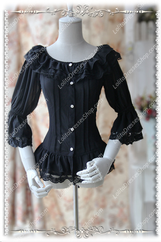 Sweet Cotten Fairy Dance Infanta Lolita Shirt