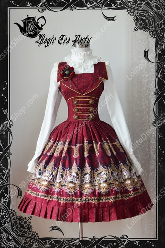 Sweet Magic Tea Party JK Print Knot Lolita Lolita Dress