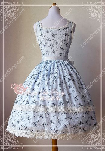 Sweet Magic Tea Party JSK Floral Piece of Flower Knot Lolita Dress