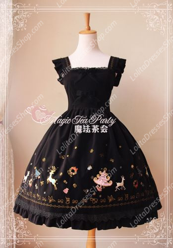 Sweet Magic Tea Party JSK Floral Christmas Embroidery Lolita Dress