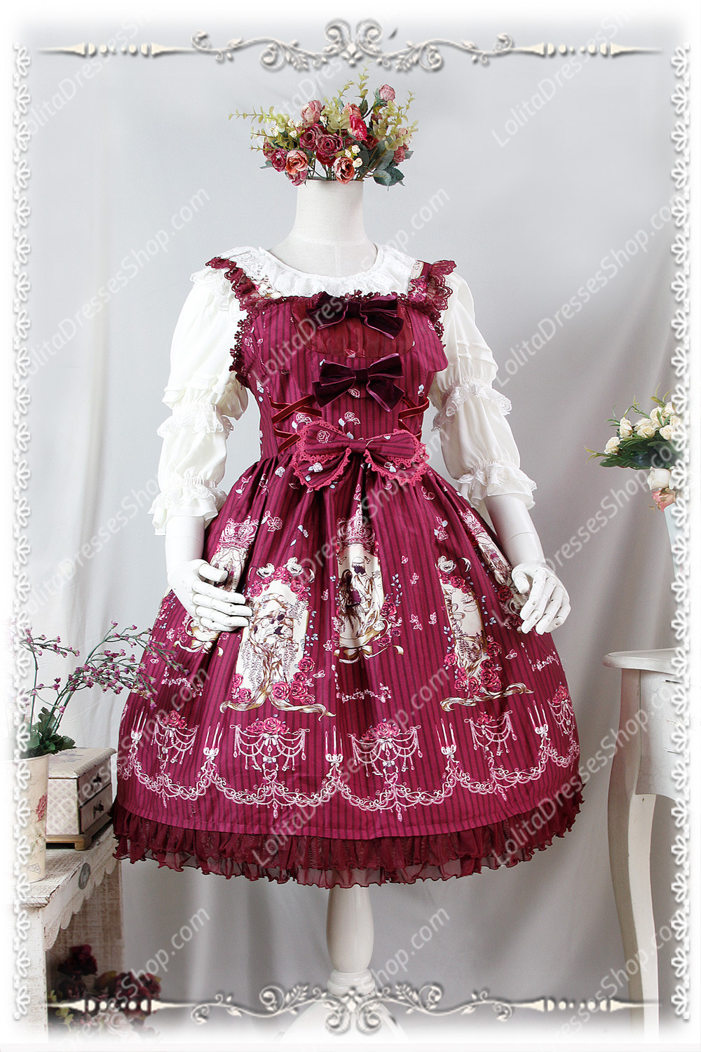 Sweet Lace Chiffon Three Quarter Infanta Lolita Shirt