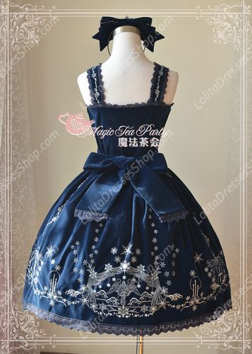 Sweet Magic Tea Party JSK Floral Embroidery Palace Lolita Dress