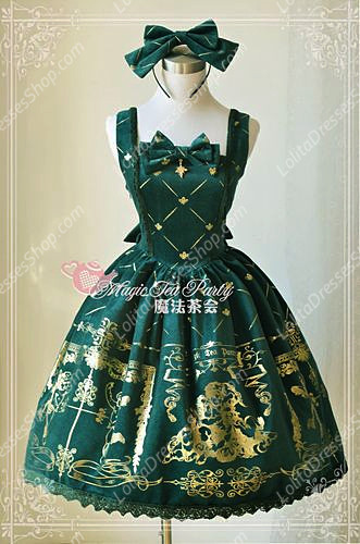Sweet Magic Tea Party JSK Floral Velveteen Bronzing Lolita Dress