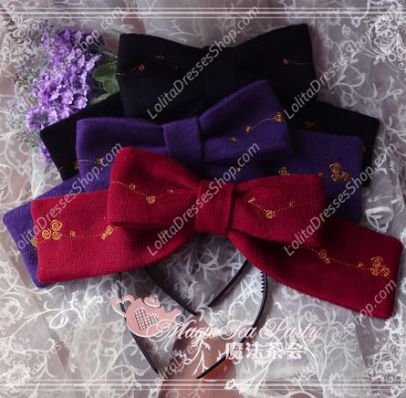 Sweet Magic Tea Party JSK Floral Gplden Embroidery Lolita Headband