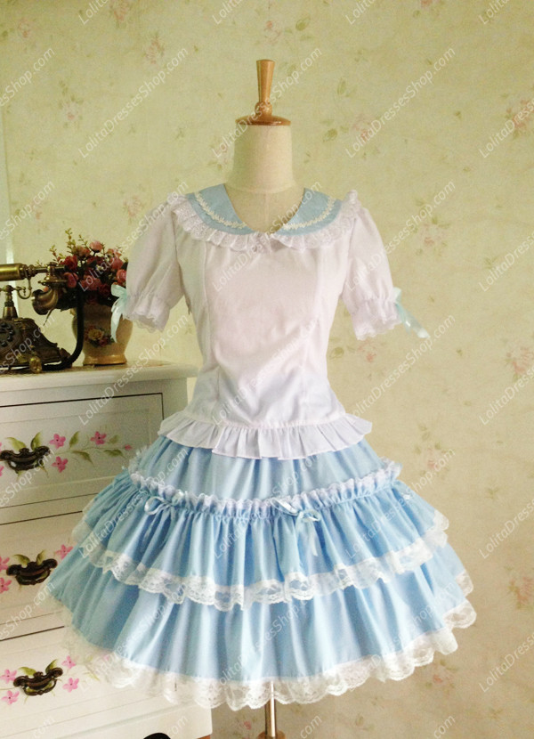 Sweet Cotten Salior Three piece-suit Lolita Dress