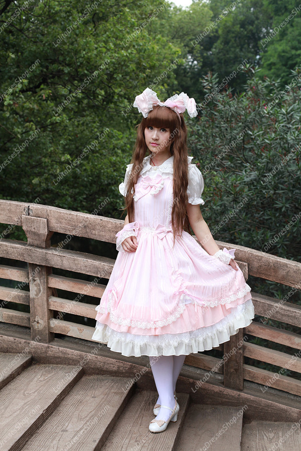 Sweet Cotten Summer Solid Color Souffle Song Lolita JSK Dress