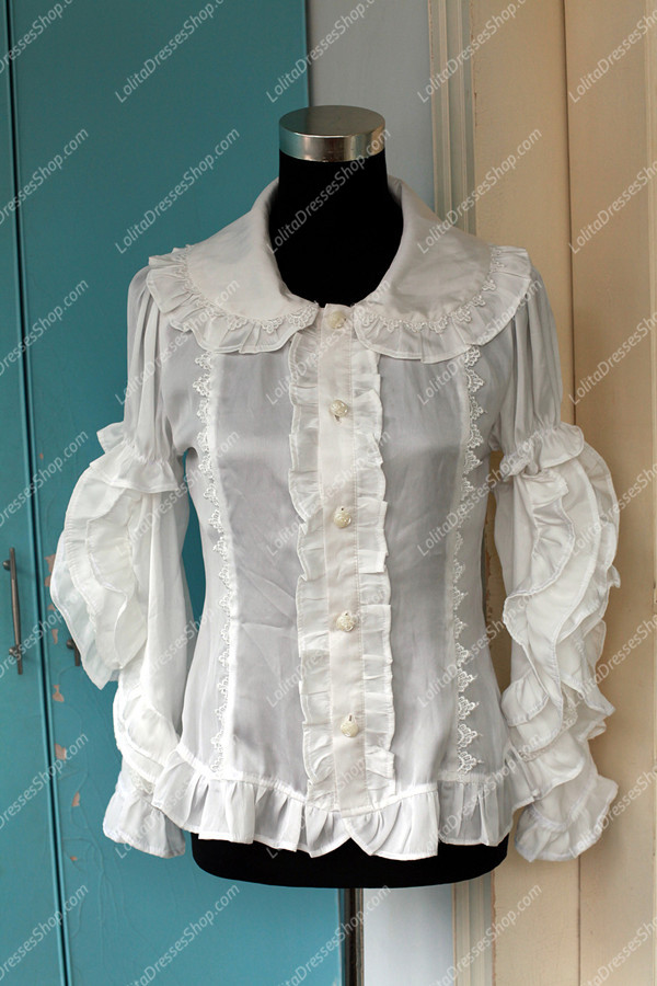 Sweet Cotten Summer 3WAY Souffle Song Chiffon Lolita Shirt