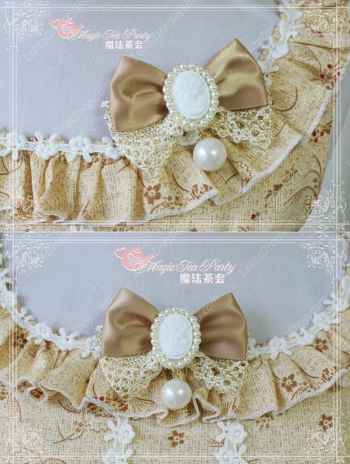 Sweet Elegant Jewel Knot Lace Cotton Magic Tea Party Lolita Breastpin