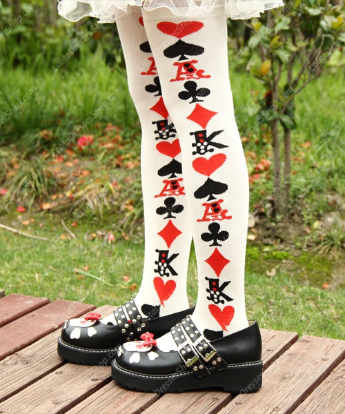 Playing cards Cotton Tight Stocking