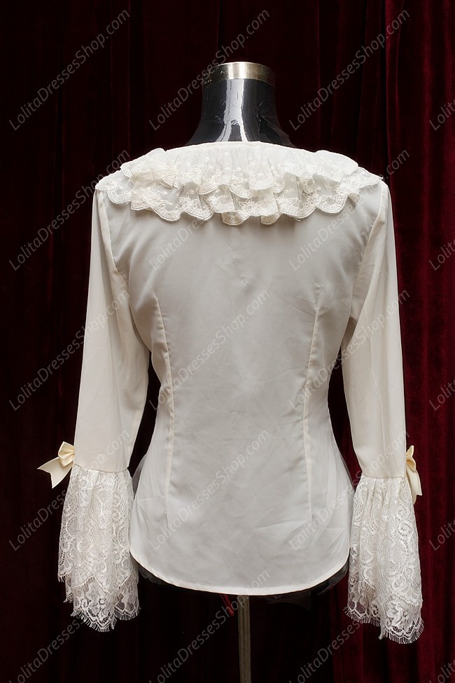 Sweet Cotten Choosing Flower Girl Souffle Song Lolita Lace Chiffon Shirt