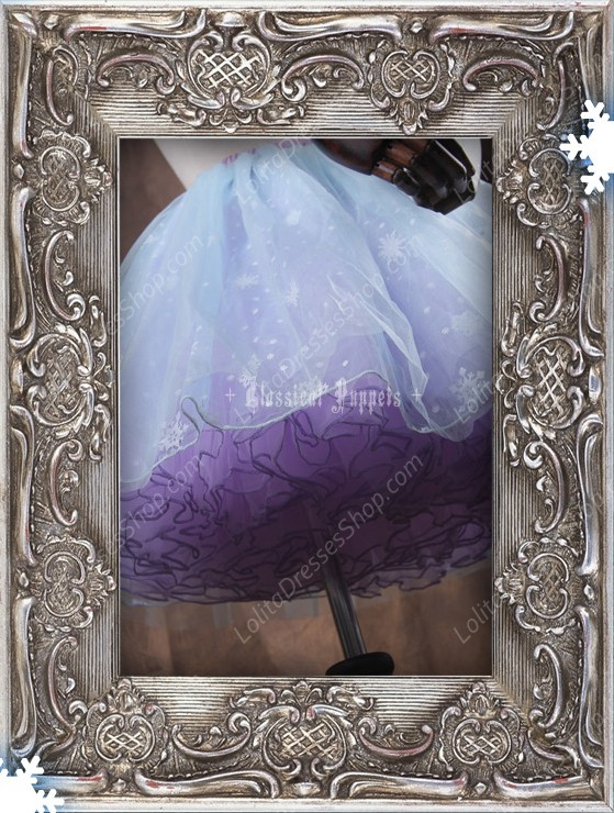 Sweet Frozen Organdy Pink-purple Classical Puppets Petticoat
