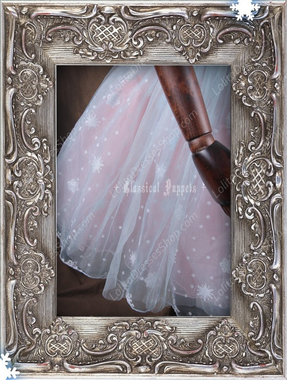Sweet Frozen Organdy Pink Classical Puppets Petticoat