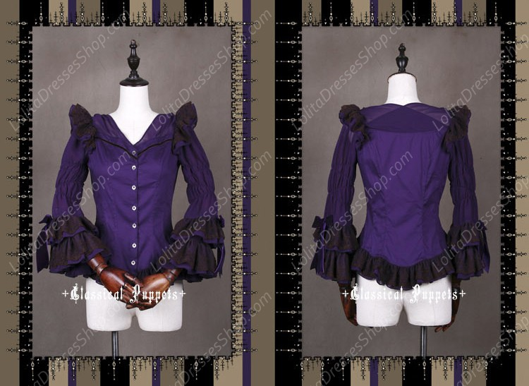 Sweet Steam Band Long Sleeved Classical Puppets Lolita Shirt