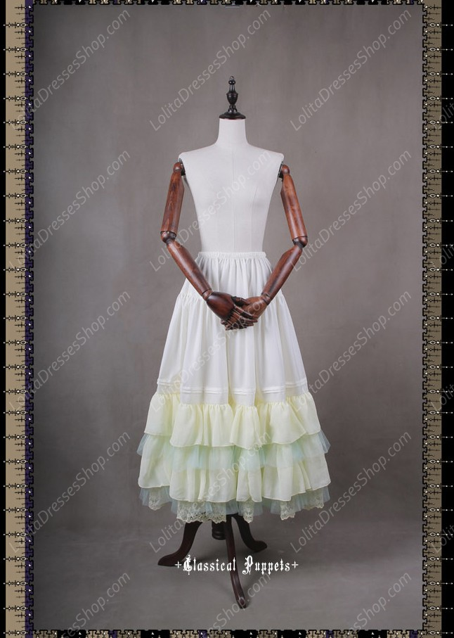 Sweet Luxurious Overlength Classical Puppets Lolita Petticoat Or Half Skirt