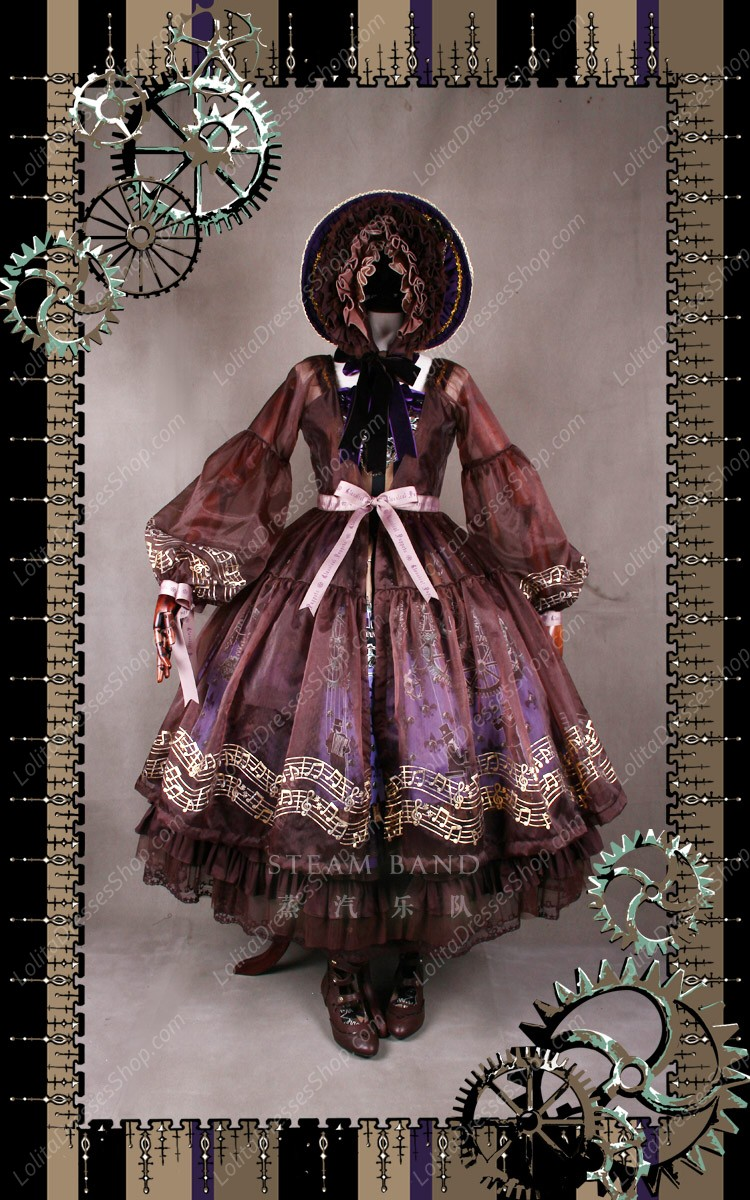 Sweet Steam Band Luxurious Classical Puppets Lolita Bonnet Hat